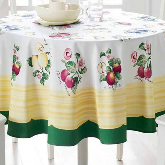 "Villeroy & Boch Other - Villeroy & Boch French Garden 70"" Round Tablecloth"
